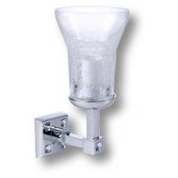 3502-75-005 Светильник однорожковый, латунь, стекло, кристаллы Swarovski, цвет - глянцевый хром