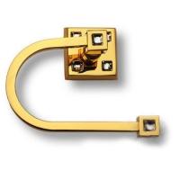 3514-72-003 Держатель для туалетной бумаги, латунь с кристаллами Swarovski, цвет - глянцевое золото