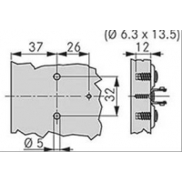 Крестовая ответная планка TIOMOS /евровинт 6.3х13.5 (0 мм)