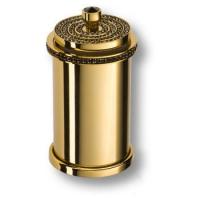 3505-78-320 Держатель для зуб. щеток,латунь с чёрными кристаллами Swarovski, цвет - глянцевое золото