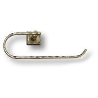 3508-75-013 Держатель для полотенец, латунь с кристаллами Swarovski, цвет - старая бронза