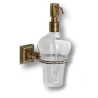 3517-75-013 Дозатор для мыла, латунь с кристаллами Swarovski, цвет - старая бронза