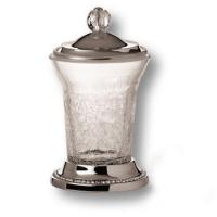 3505-75-005 Держатель для зубных щеток, латунь с кристаллами Swarovski, цвет - глянцевый хром