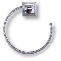 3510-75-005 Держатель для полотенец, латунь с кристаллами Swarovski, цвет - глянцевый хром