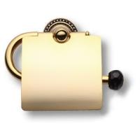 3514K-71-320 Держатель для туалетной бумаги, латунь с чёрными кристаллами Swarovski,глянцевое золото