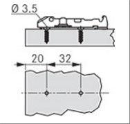 Линейная ответная планка TIOMOS /саморез (0 мм)