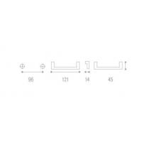 1369A00 21OV Ручка под бронзу без крепежа