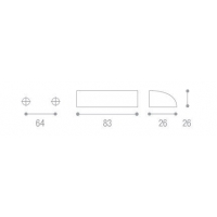 1355000-21OV Ручка-скоба L=64мм бронза с крепежным комплектом
