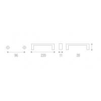 U12909.B260.26 Ручка металл. L=96мм, хром, New