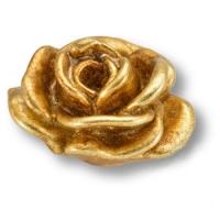 RE 03 19 Ручка кнопка в форме розы, смола, ручная работа, цвет золото