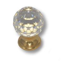 9933-100 Ручка кнопка с кристаллом Swarovski эксклюзивная коллекция, глянцевое золото