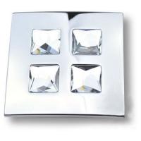 1035.0100.026 Ручка кнопка с кристаллами Swarovski эксклюзивная коллекция, глянцевый хром 16 мм