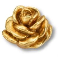 RE 02 19 Ручка кнопка в форме розы, смола, ручная работа, цвет золото