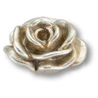 RE 03 15 Ручка кнопка в форме розы, смола, ручная работа, цвет серебро