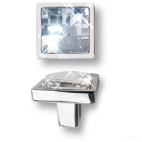 15.320.00.SWA.07 Ручка кнопка с кристаллом Swarovski эксклюзивная коллекция, глянцевый хром