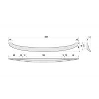 F136/F-CR Ручка-скоба 160-192-224мм, отделка хром глянец