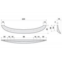 F136/D-CR Ручка-скоба 96-128-160мм, отделка хром глянец