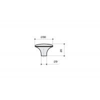 WPO.702Y.030.M00E8 Ручка-кнопка, отделка старое серебро с блеском