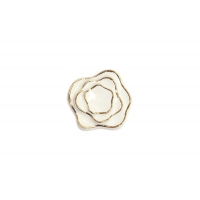 P61.01.M9.06 Ручка-кнопка, отделка керамика слоновая кость + золото
