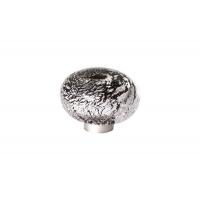 24EM.009037.NA Ручка-кнопка из стекла, отделка фольга чёрная + серебро