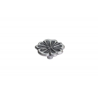 WPO.676Y.040.M00E8 Ручка-кнопка, отделка старое серебро с блеском