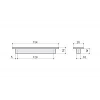 F108/E-CM Ручка-скоба 128мм, отделка сталь шлифованная