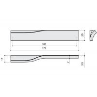 F120/DX-CR Ручка-скоба 160мм правая, отделка хром глянец