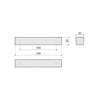 F114/F-CR Ручка-скоба 160мм, отделка хром глянец