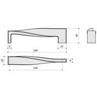 F118/H-CR Ручка-скоба 280мм, отделка хром глянец