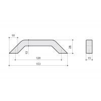 F103/E-CR Ручка-скоба 128мм, отделка хром глянец