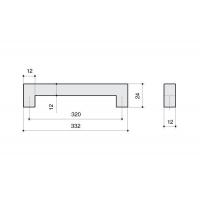 F101/I-CM Ручка-скоба 320мм, отделка сталь шлифованная