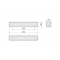 F114/E-CR Ручка-скоба 128мм, отделка хром глянец
