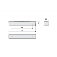 F114/D-CR Ручка-скоба 96мм, отделка хром глянец