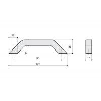 F103/D-CR Ручка-скоба 96мм, отделка хром глянец