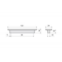 F108/D-CM Ручка-скоба 96мм, отделка сталь шлифованная