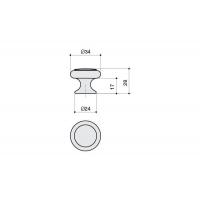 24043.F62P.605.08 Ручка-кнопка, отделка бронза + вставка