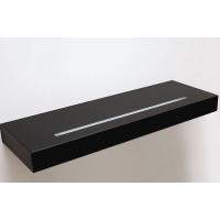 Полка-светильник Just-50, 1200х200 мм, черный глянец, стекло покраска+матированное световое окошко