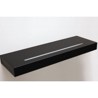 Полка-светильник Just-50, 900х200 мм, черный глянец, стекло покраска+матированное световое окошко