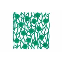 Комплект декоративных панелей SINFONIA 254х254мм (6 штук), отделка зеленая
