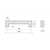 F101/D-CM Ручка-скоба 96мм, отделка сталь шлифованная