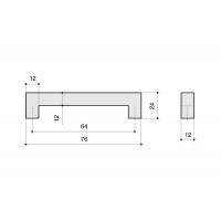F101/C-CM Ручка-скоба 64мм, отделка сталь шлифованная