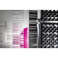 Комплект декоративных панелей PIRAMIDE 254х254мм (6 штук), отделка транспарент