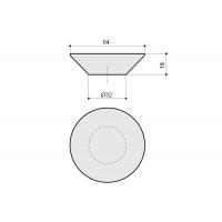 217.896-2400/1300 Ручка-кнопка, отделка транспарент + белый