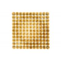 Комплект декоративных панелей TIMESQUARE 254х254мм (6 штук), отделка золото