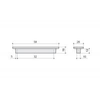 F108/A-CM Ручка-скоба 32мм, отделка сталь шлифованная