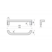 F121/E-CR Ручка-скоба 128мм, отделка хром глянец
