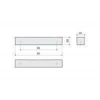 F114/C-CR Ручка-скоба 64мм, отделка хром глянец