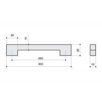 F102/H-CM Ручка-скоба 280мм, отделка сталь шлифованная