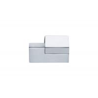 F501/SX-CM5 Ручка-кнопка левая, отделка хром глянец + сталь шлифованная