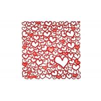 Комплект декоративных панелей PALPITATIO 254х254мм (6 штук), отделка красная